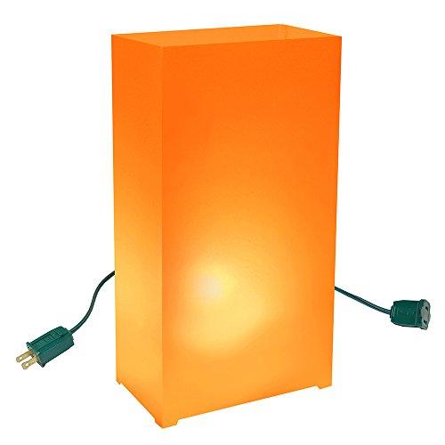 Lumabase 33910 10 Count Electric Luminaria Kit, Orange
