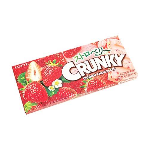 CRUNKY Crunch Chocolate bar Strawberry Japan Snack Limited Dagashi