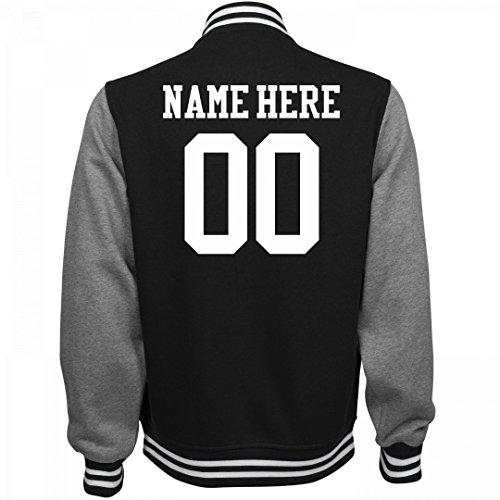 Customized Girl Personalized Varsity Jacket: Unisex Fleece Letterman Varsity Jacket (Letter Jackets For Kids)