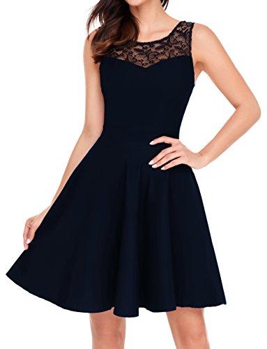 Flare Little Black Dress - 5