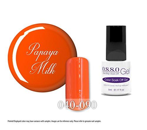 O.S.S.O Gel Polish Color One-Step Soak-off LED UV Cured No Base or Top Coat Need (Papaya Milk) (5ml)