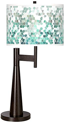 Aqua Mosaic Giclee Novo Table Lamp