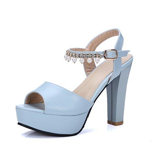 Ouvert Bleu Bout SLC04034 AdeeSu Bleu Femme 36 5 EU UzExq