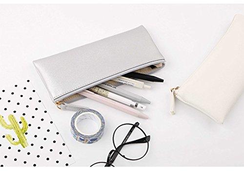 Cuir Drawihi en PU Stockage Couleur Trousse Crayon De Porte Cosm Sac Simple Stylo Portefeuille qHBq4