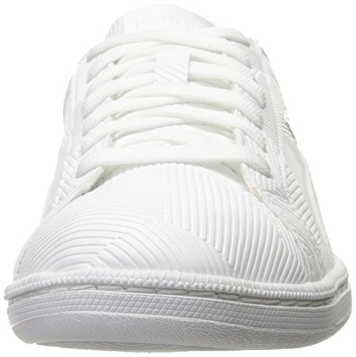 Puma Mens Smash Deboss Fashion Sneaker Puma White-puma White