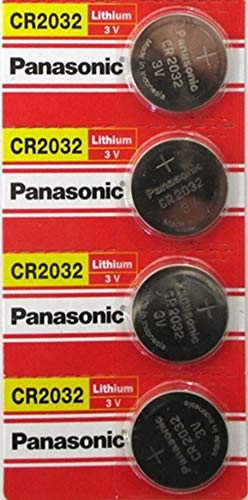 Panasonic CR2032 3V Lithium Coin Battery (Pack of 4) ()