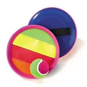 Happy People 74083 - Klettballspiel Set 19 cm 1 Ball, farblich sortiert,...