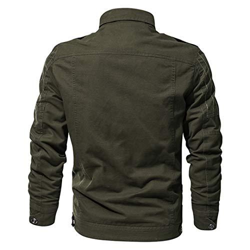 Green Giacca Primavera Uomo shirt Army T Leggera Pilota Da Aeronautica uomo Urv4UxwqA