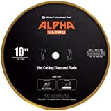 "10"" Alpha Vetro Glass Diamond Blade 5/8"" arbor"