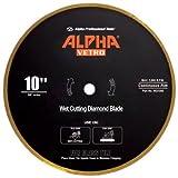 "cutting glass tile backsplash 10"" Alpha Vetro Glass Diamond Blade 5/8"" arbor"