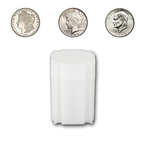 (5) Coinsafe Brand Square White Plastic (Large Dollar) Size Coin Storage Tube Holders