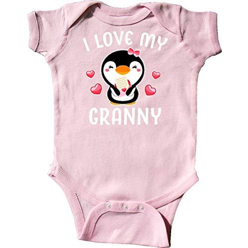 inktastic - I Love My Granny with Cute Penguin Infant Creeper Newborn Pink 342cc