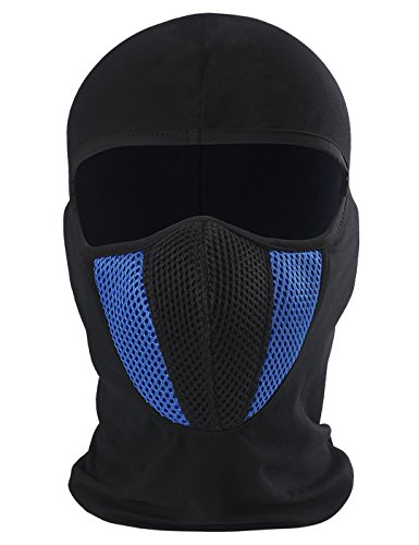 ChinFun Balaclave Cotton Spandex Windproof Ski Mask Cold Weather Face Mask Winter Tactical Hood Motorcycle Neck Warmer Thermal Retention Winter Outdoor Premium Soft Moisture Wicking Royal Blue