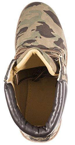 Elara Damen Worker Boots   Bequeme Warm Gefütterte Schnürrer   Outdoor Stiefeletten Berlin Militaire