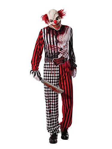 Rubie's Men's Evil Clown Costume, As Shown, -