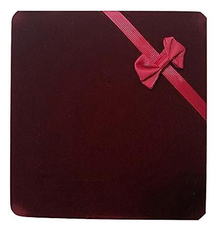 Jm Future Xl Extra Large Burgundy Velvet Set Gift Box For Jewelry Necklace Earring Bracelet