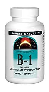 Source Naturals Vitamin B-1 100mg, 250 Tablets