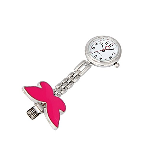 Amazon.com: Lookatool Nurse Clip-on Fob Brooch Pendant Hanging Butterfly Watch Pocket Watch (Pink): Watches