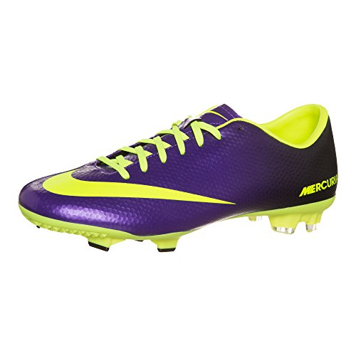 c90e946e2b4 Nike Mens Mercurial Victory IV FG Electro Purple Volt Black Soccer Cleats  10 Men US