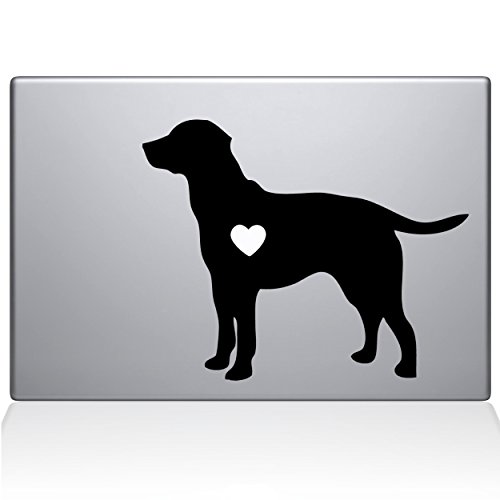 The Decal Guru Labrador Retriever Love Silhouette Decal Vinyl Sticker, 13