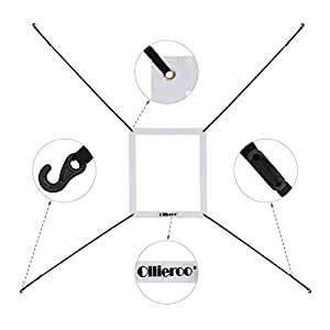 Ollieroo Strike Zone Attachment for 7x7 Baseball Softball Net