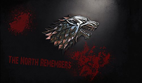 Game of Thrones the North Remembers Playmat + Free RFG Sleeves 75 Count by HiddenSupplies.com