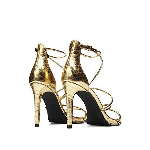 Kenneth Cole New York Kvinna Bryanna Strappy Klänning Sandal Guld