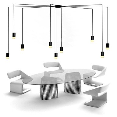 CC Kabel 500cm Nordeuropa kontrahiert und geometrischen Cord Design LED Pendelleuchte office,ausstellung,Wohnzimmer , Weiß-220-240v