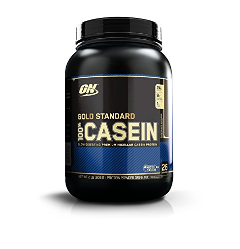 OPTIMUM NUTRITION GOLD STANDARD 100% Micellar Casein Protein Powder, Slow Digesting, Helps Keep You Full, Overnight Muscle Recovery, Chocolate Supreme, 0.91 kg (Best Whey Protein With Casein)