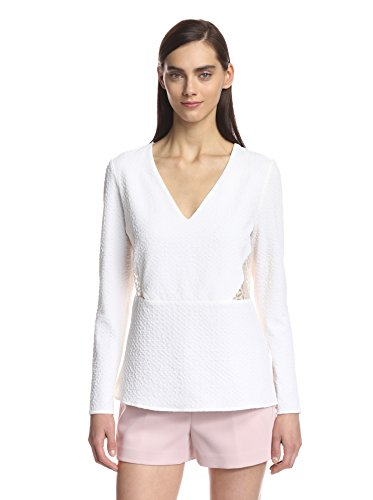 - Lucy Crinkle Crepe Back Detail Blouse (White) (Cooper Shelf)