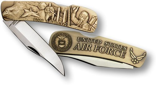 - Air Force Lockback Knife - Small Bronze Antique