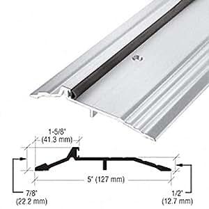 5 x 1 2 aluminum panic type threshold 36 1 2 length - Adjustable exterior door threshold ...