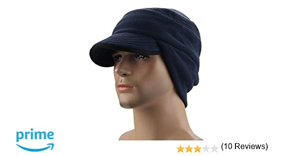 b39a62ba Warm Winter Hats Thick Windproof Earflap Wool Cap with Visor Royal Blue:  Amazon.ca: Clothing & Accessories