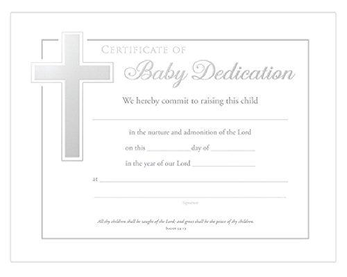 Baby Dedication Certificates (Isaiah 54 13) Pack of 6, white, 8.5 x 11