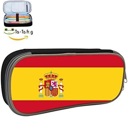 Se20B Estuche para Lápices de Bandera de España para Estudiantes, Personalizable, Bolsa de Papelería, Bolsa de Almacenamiento para cosméticos: Amazon.es: Hogar