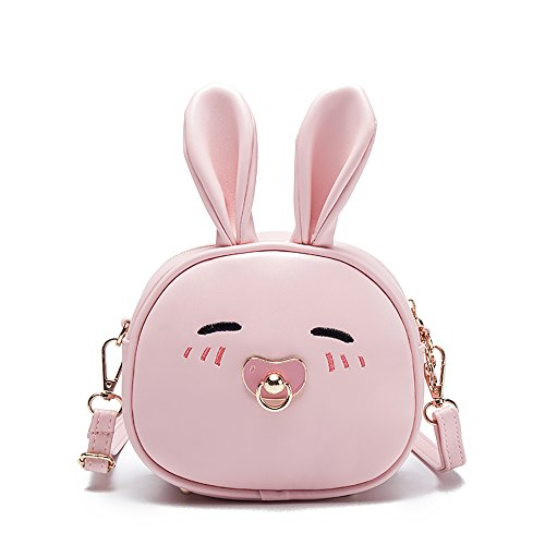 Price comparison product image Pinky Family Super Cute Girls Purse Bunny Ear Shoulder Bag Messenger Bag and Backpack (pattern 2 pink)