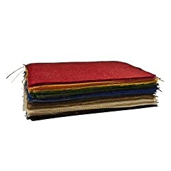 9 X 12 Inches Assorted Pack Burlap Sheets - 25 Pcs