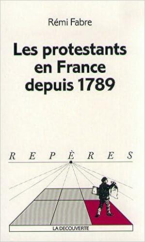Téléchargement Les Protestants en France depuis 1789 pdf