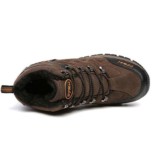 Piedi Piedi Uomo Casual TAOFFEN Stivali Scarpe Trekking Trekking Brown BawE6X