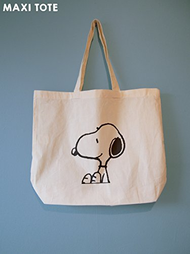 Bag Cotton Tote Beach Natural Large Bag Shoulder Bag Shopping 100 Sitting Reusable Snoopy Gift Bag amp; Bag Adorable Summer Great Perfect Snoopy Bag 7Eq41EP