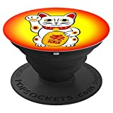 Asian Lucky cat Winkekatze Maneki Neko cellphone item - PopSockets Grip and Stand for Phones and Tablets