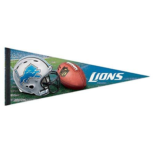 Bek Brands Football Teams Flag Banner Pennant, 12 x 30 in, Soft and Durable (Detroit Lions Helmet)