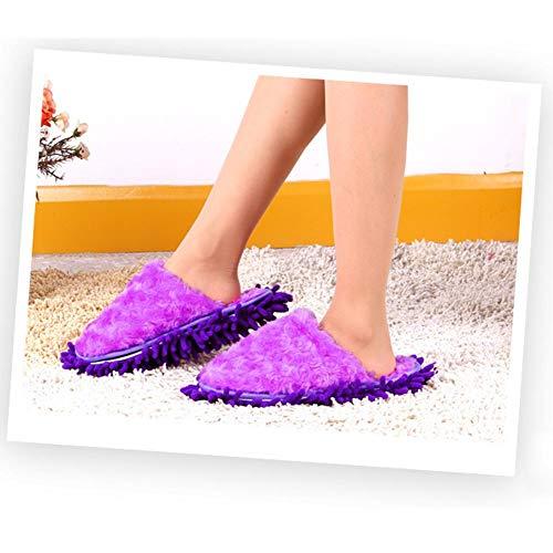 Femme Coton Homme Accueil Pantoufles Fourure Hiver Automne pour Doublée Slippers colinsa Ergonomique Thermique de Violet Chaussons Peluche Chaussures FPqUf5w