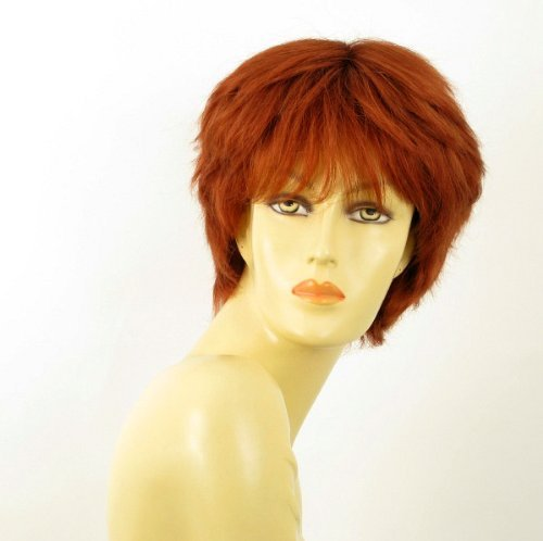 - WIG UNIVERS Woman Wig 100% Natural Hair Copper Intense Ref Sylvie 130