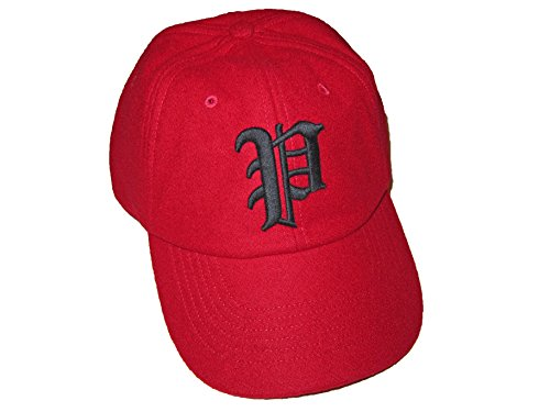 Ralph Lauren Polo Mens Fitted Wool Blend Gothic Baseball Hat (Medium, Red) ()