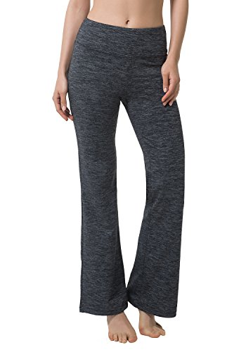 Matymats Women's High Waist Yoga Flare Bootleg Pant Workout Fitted Athletic Bootcut (Sport Flare)