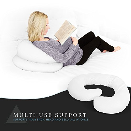 Large Product Image of Restorology Full 60-Inch Body Pregnancy Pillow - Maternity & Nursing Support Cushion with Washable Cover