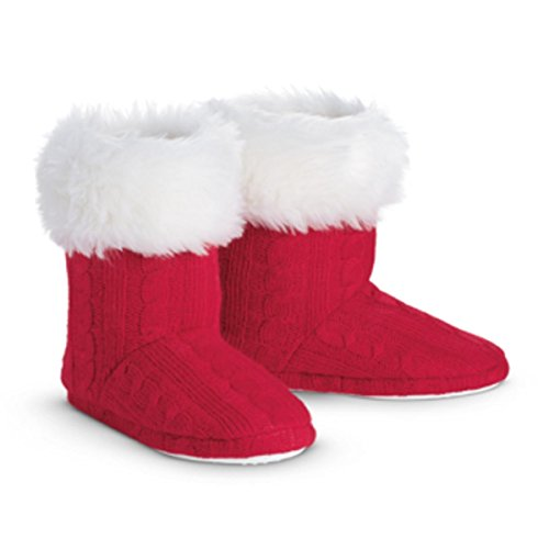 (American Girl Truly Me Playful Polar Bear Knit Booties for Girl Size Large 51/2 - 7)