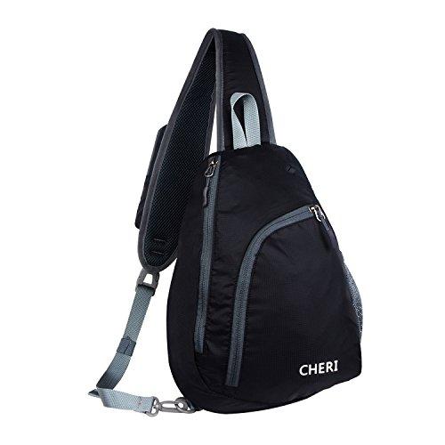 Sling Bag, CHERI Waterproof Shoulder Backpack Crossbody Bag for Women Men Hiking TravelSling Bag, CHERI Waterproof Shoulder Backpack Crossbody Bag for Women Men Hiking Travel