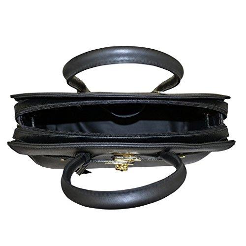 Carbotti Classico Birkin stile ispirato pelle tote handbag - nero